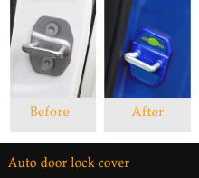 Kracng Car Door Lock Protection Cover for Mercedes Benz AMG W213 W204 W205 CLA GLA GLE GLC GLS C E Class
