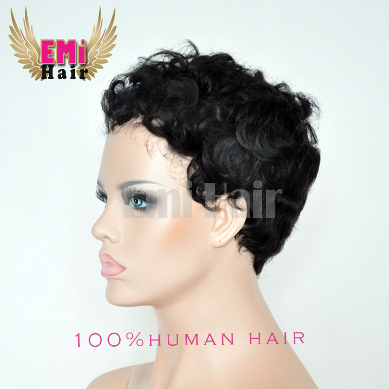 Brazilian Hair Wigs Short Curly Hair Wig