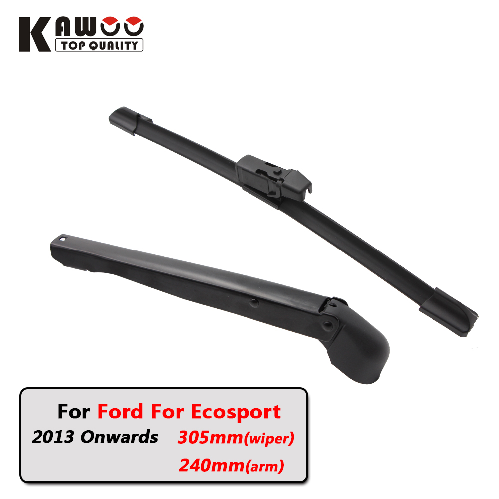 Kawoo car rear wiper blades back window wipers arm for ford for ecosport hatchback 2013