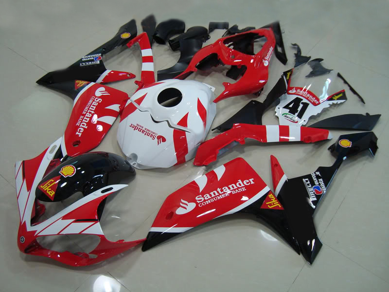 Injection mold Fairing Kit for YAMAHA YZFR1 07 08 YZF R1 2007 2008 YZF1000 ABS Red