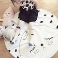 2016 New Kids Game Mats Baby Crawling Blanket Children Rug Round Racing Games Eyelash Carpet Room Decoration 100%Cotton 95cm