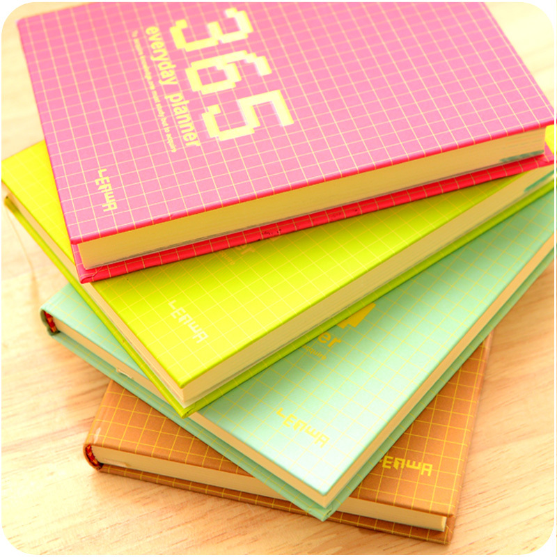 365 Day Plan Monthly Weekly Day Planner Diary Notebook paper 128 sheets agenda planner organizer Creative Office School Supplies creative leather ring binder a6 a5 notebook monthly weekly diara planner organizer agenda 2016 2017 cartoon school caderno