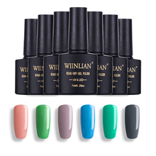 ФОТО 7ml long lasting nail polish uv led nail gel lacquer soak off nail art polish
