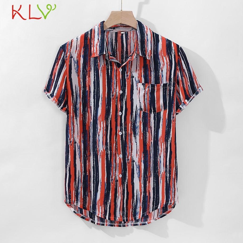 Blouse Shirt Men Short Sleeve Striped Summer Hawaiian Holiday Kimono 2019 Casual Harajuku Top Camisa Hombre Jogging Clothes 19Je Рубашка