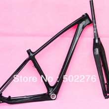 "FR-217 Full Carbon UD Glossy MTB 29"" Wheel Mountain  Bike Bicycle 29ER BB30 Frame  and fork  -17"",  19"" ( Gift: headset )"