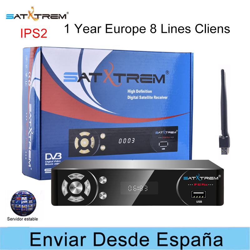 Satxtrem IPS2 Plus DVB-S2 avec récepteur Satellite USB Wifi IPTV Cccam oarnaque allemagne récepteur numérique décodeur Satellite