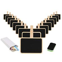 METABLE 20 pcs Mini Chalkboard, Blackboard With Stands for Party Wedding Table Number Message Board Signs.