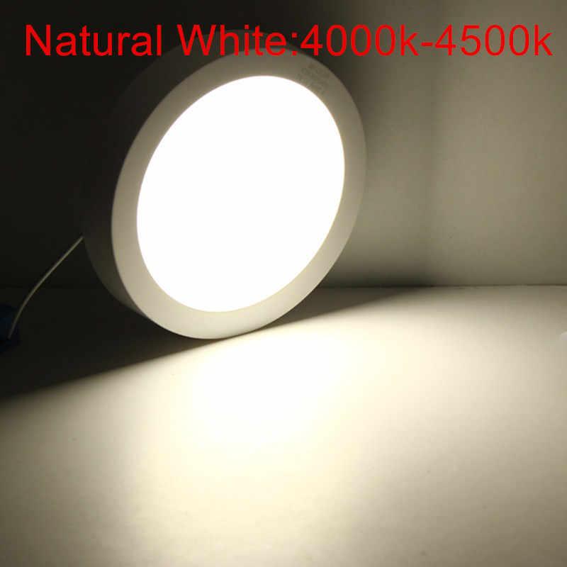 9 Вт 15 Вт 25 Вт поверхностного монтажа светодиодный потолочный светильник 3000 К 4000 к 6000 К круглый/Квадратный светодиодный панельные светильники для освещения ванной комнаты AC85-265V