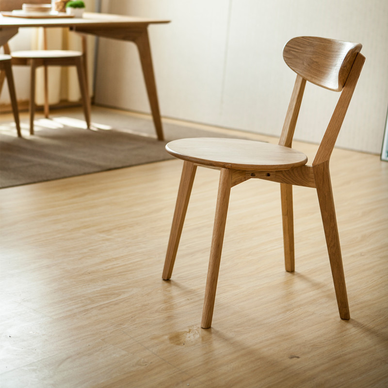 Modern wood chair Nordic simple and stylish casual cafe ...