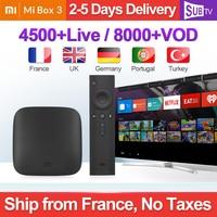 4K IPTV France MI Box 3 Android TV 8.0 4K 8GB WiFi IPTV SUBTV Media Player Xiaomi Mi Box Belgium Dutch Portugal France IP TV