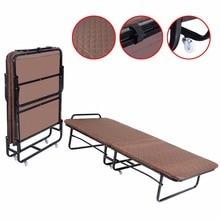 GOPLUS Folding Bed Foam Mattress Twin Roll Away Guest Portable Sleeper Coffee   HW51125COFFEE