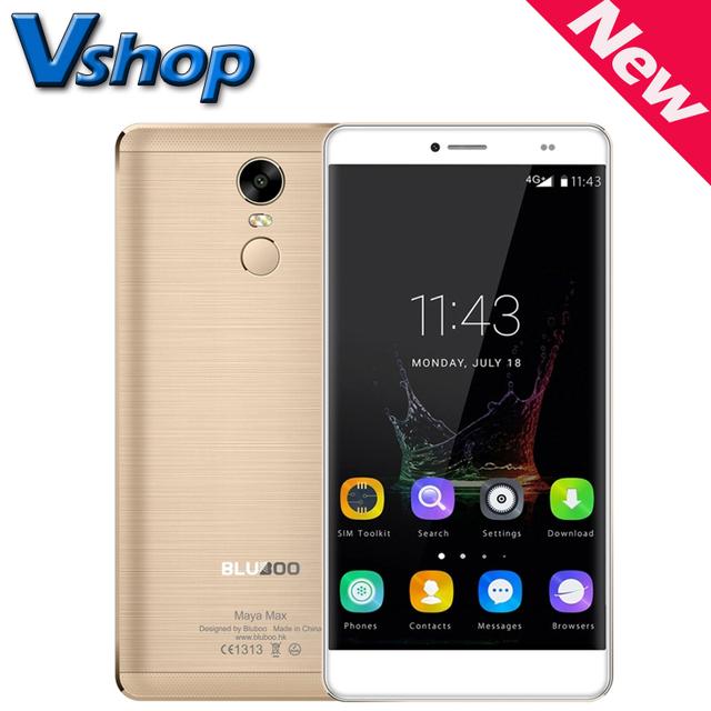 Original bluboo maya max 4g teléfono móvil androide 6.0 32 gb rom 3 gb RAM MTK6750 Octa Core 13MP Cámara de Doble SIM 6.0 pulgadas Del Teléfono Celular