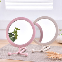 TI72 пшеничной соломы Материал зеркало складное висит двусторонняя зеркало HD рабочего салон товары