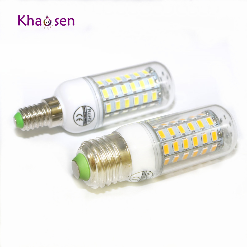 E27 LED Lamp 5730 SMD 220V  E14 LED Corn Bulb 24 36 48 56 69 72LEDs Chandelier Candle LED Light Lampada Bombillas Ampoule