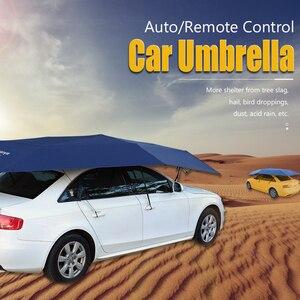 Image 5 - Автоматический автомобильный Зонт 450x230 см с дистанционным управлением, автоматический круглый автомобильный тент, солнцезащитный тент для автомобиля, уличная палатка