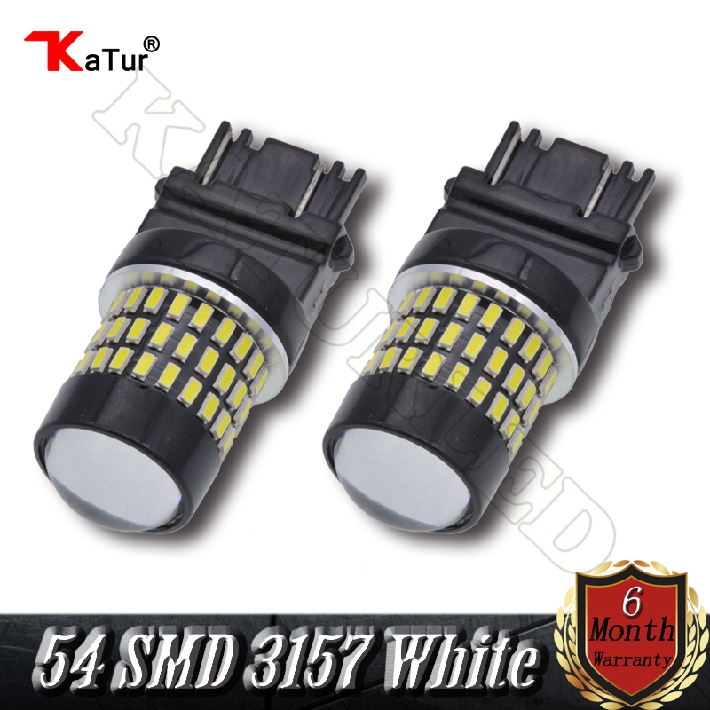 2 Pieces T25 3157 3156 4157 3057 650 Lumens Super Bright 3014 54-EX Chipsets LED Bulbs Used for Turn Signal Light Xenon White auxmart t25 3157 3156 33smd led for jeep