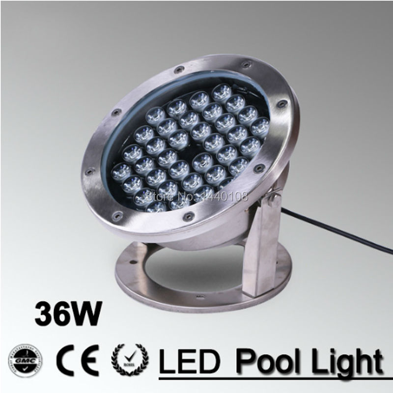 5pcs/lot ac85-265v or AC 24v 24w 36w RGB color changeable LED underwater light lamp fountain lamp led swimming pool light