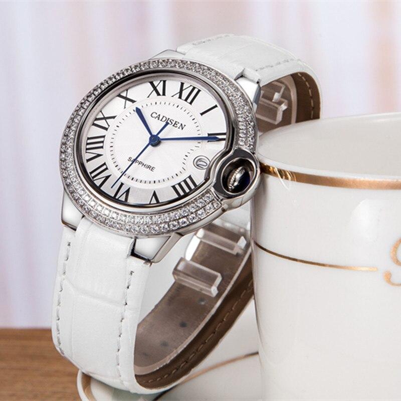 f65f18b6356 CADISEN de marca de lujo de la mejor señoras reloj de cuarzo reloj de las  mujeres de la moda relojes de pulsera hembra de Cryst reloj Relogio femenino  2018