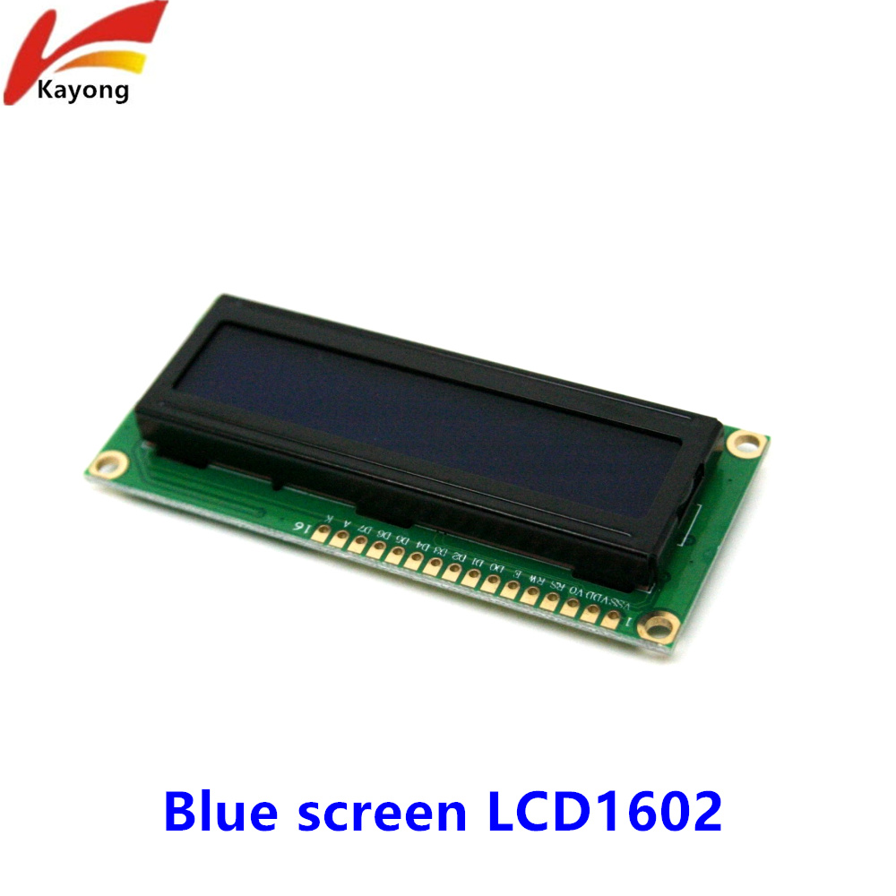 LCD1602 LCD monitor 1602 5V blue screen and white code