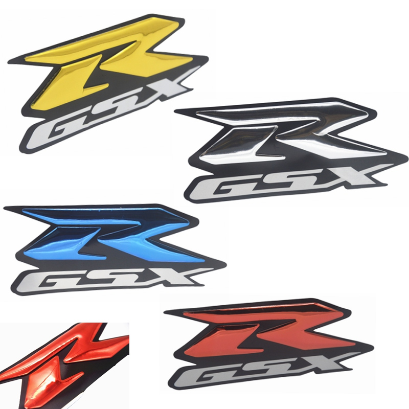 2pcs 3D GSXR Motorcycle Sticker Decal Emblem Raised Reflective Fairing Stickers Moto Vinyl Bling for GSXR 1000 1100 600 750 1300(China)