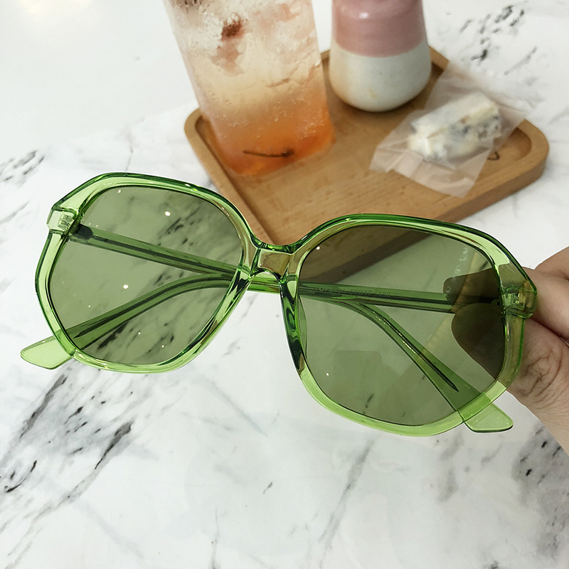 HBK Women Fashion Candy Color Square Sunglasses 2019 New Retro Vintage Sun Glasses Ladies Irregular Frame Gradient Eyewear UV400