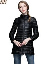Casual Ultralight winter Coat Women loose Jacket Women's Down Jackets Long Thin duck Down Coats Plus Size