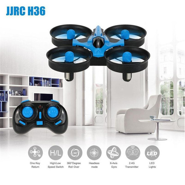 Super Mini Design JJRC H36 RC Racing Drone Dron 2.4GHz 4CH 6 Axis Gyro Quadcopter 360 Degree Roll Speed Switch Fly Helicopter