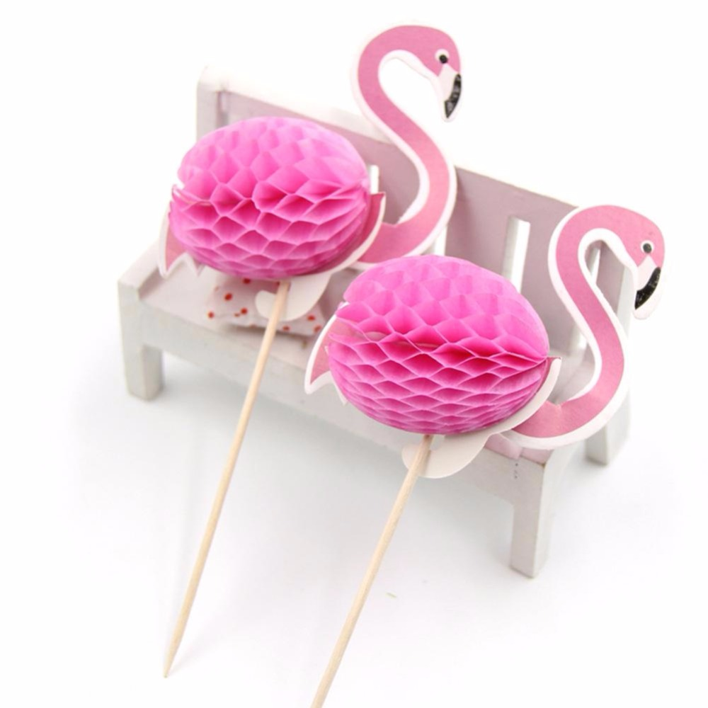 12pcs Birthday Party Decorations Adult Flamingo Cake Topper Wedding ...