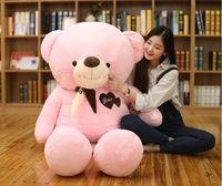 Новый Стиль Огромный 160 см любовь медведь плюшевые игрушки розовый плюшевый мишка мягкая кукла подушку Рождественский подарок b1984