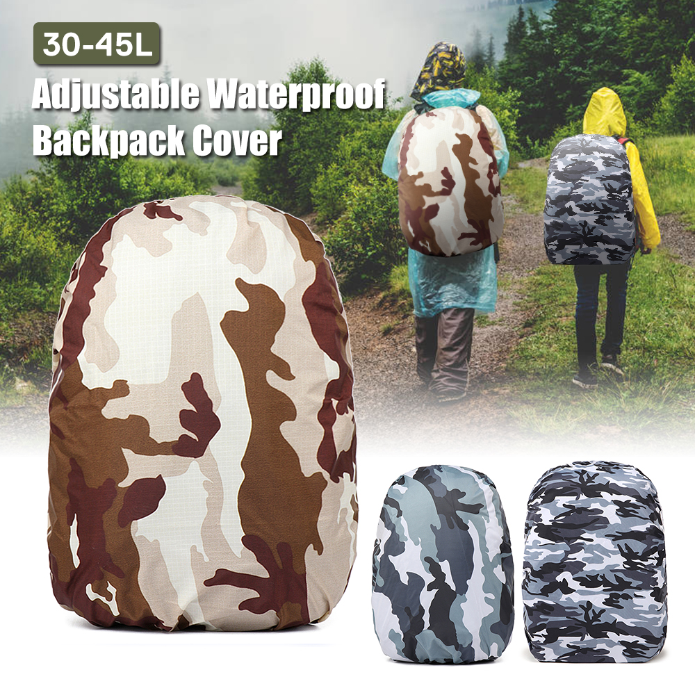 Backpack Cover 30-45L Adjustable Waterproof Waterproof Bag Tactical Outdoor Camping Hiking Climbing Dust Raincover For Hiking
