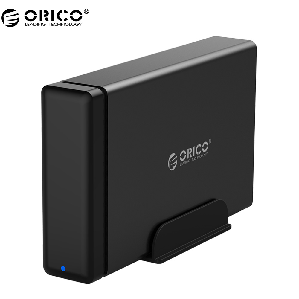 ORICO NS100U3 Aluminum HDD Dock Enclosure USB3.0 to SATA3.0 Hard Drive Box  Support UASP 12V Power MAX 10TB Capacity orico 3 5 protective sata pata hdd box case yellow