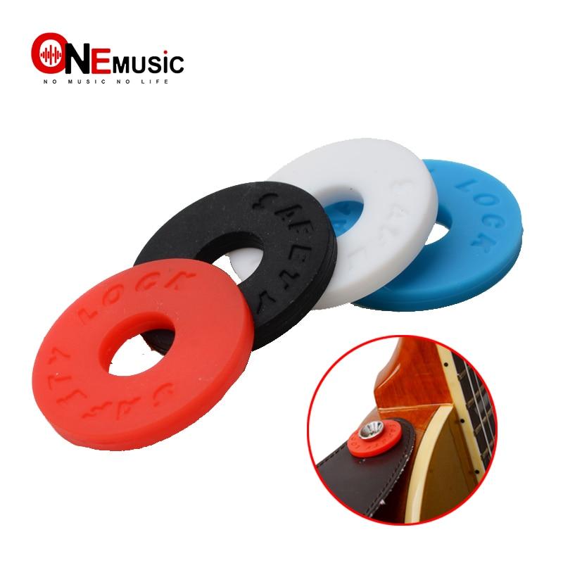 4pcs Multi Color Guitar Strap Block Rubber Safety Lock