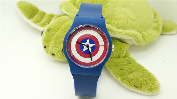 2016 NEW 1pcs/lot marvels super hero The Avengers kids watch Children Watch 3D watch willis brand wristwatch winnie the pooh the house at pooh corner