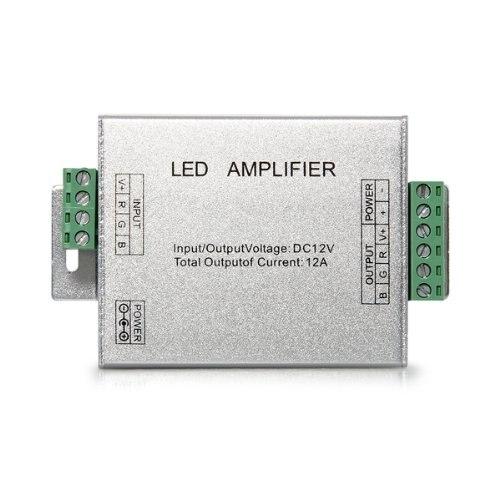 Amplificador de la SEL wi-fi-дель-repetidor Para <font><b>Cinta</b></font> Luces <font><b>LED</b></font> RGB 12 В DC 12A Бесплатная доставка