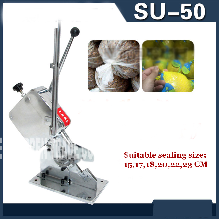 su 50 U shape Manual Sausage Cutter Clipping Machine Cafe Supermarket Tightening Machine No loss of air and water