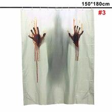 Bathroom Waterproof Halloween Horror Blood Bath Polyester Shower Curtain Bathroom Decor with 12 Hooks  for bathroom shower