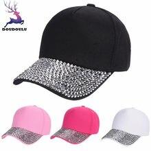 Doudoulu 2018 nueva gorra de béisbol mujeres moda Rosa Blanco ajustable  gorra de béisbol negro en c98e100433e