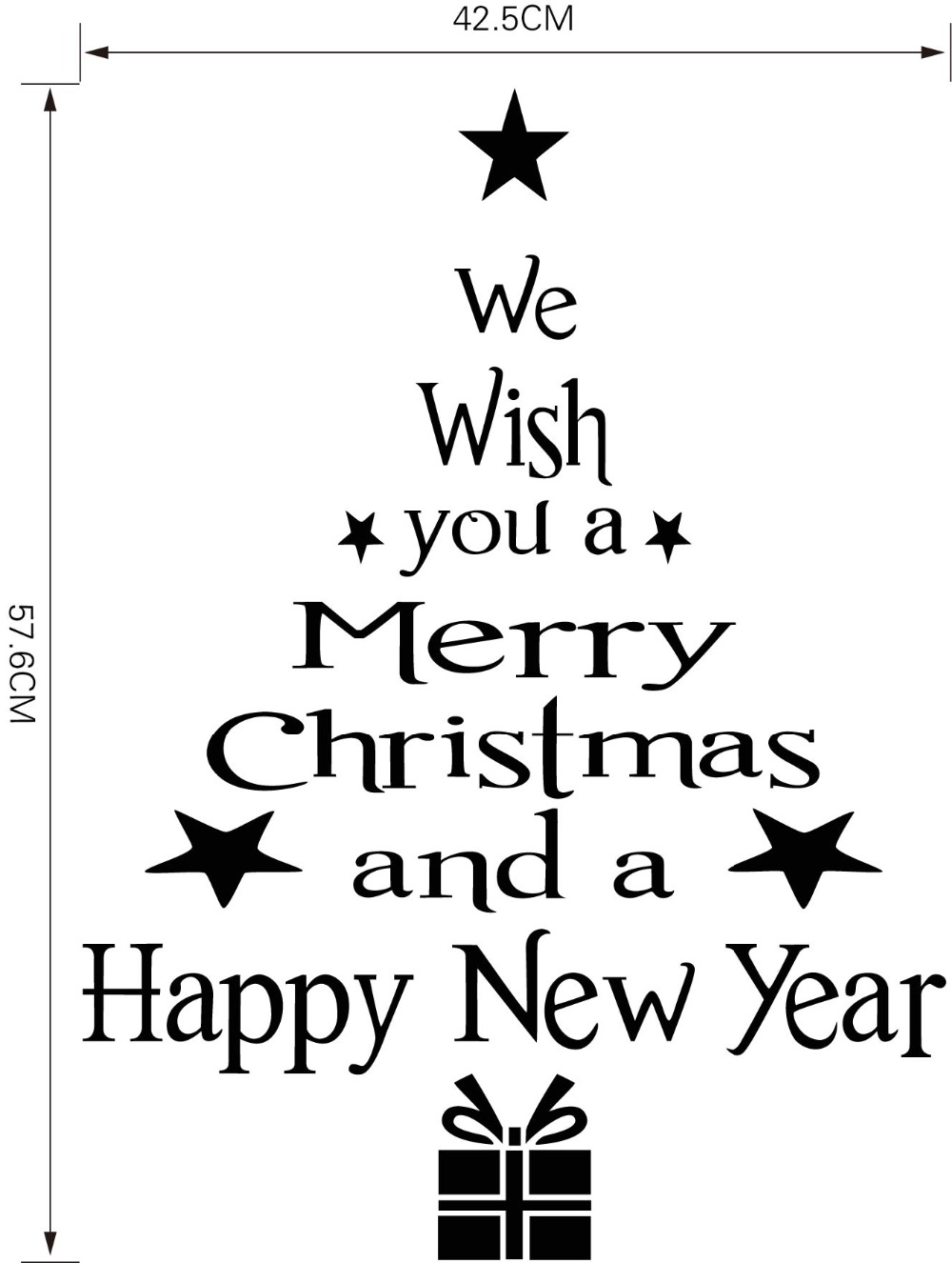 Home Decor Wall Stickers Merry Christmas Happy New Year Best Wishes Decals White Black Red Color Blessings Quotes In From