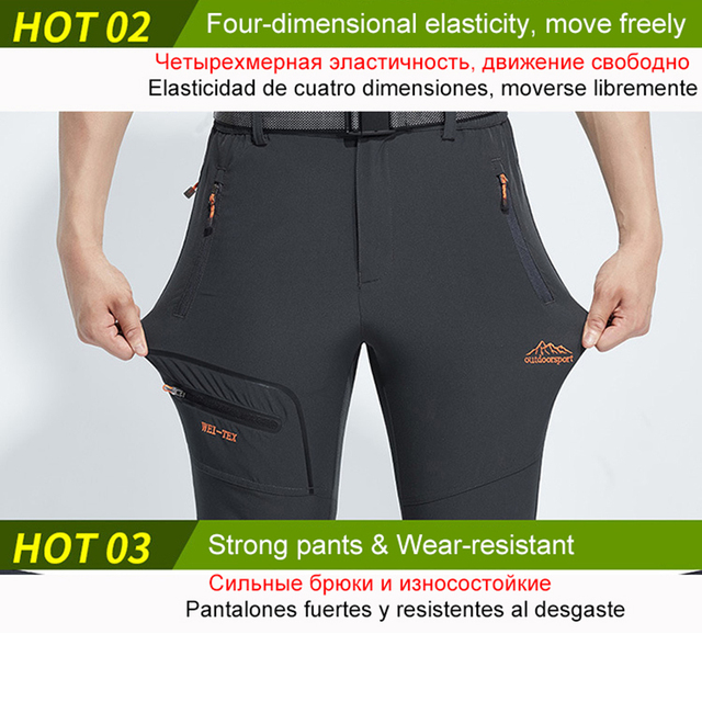 LUTU Thin hiking pants men Sports pants quick dry breathable outdoor trousers women waterproof mountain trekking pant 1