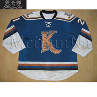 MeiLunNa Custom Edmonton Kootenay Ice Jerseys Colton Kroeker Knoblauch Hines Nigel Dawes Home Road Sewn On Any Name NO.Size W