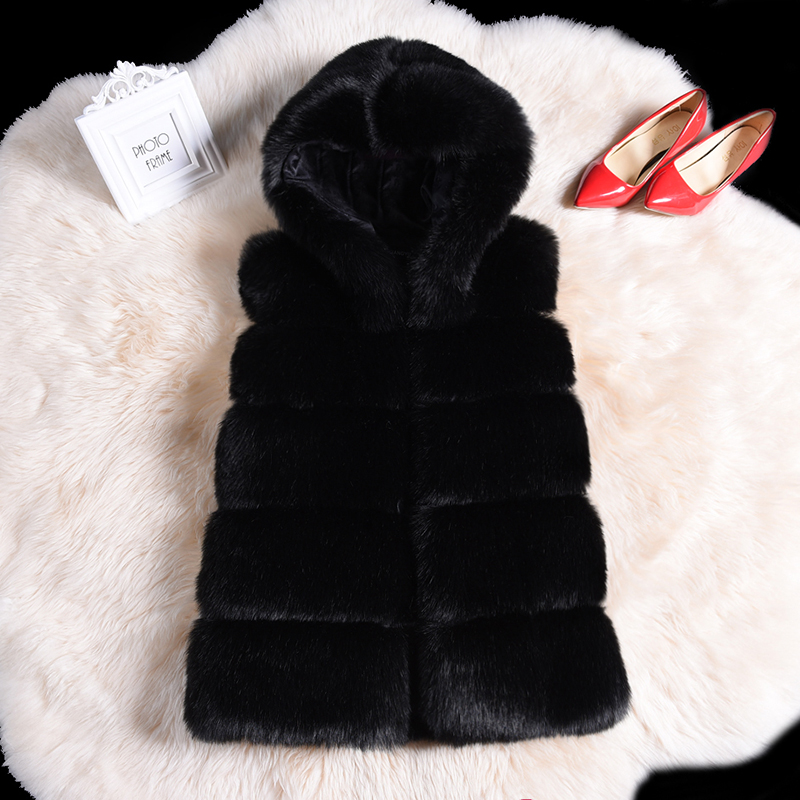 Fashion Streetwear Warm Faux Fur Hoody Vest Coat Parka 2019 Winter Fluffy Teddy Bear Coat Women Plus Size 4xl Patchwork Fur Coat