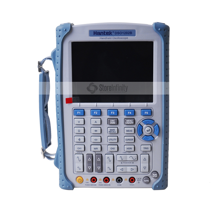 Hantek DSO1202B Digital Handheld Oscilloscope 5.6 Inch TFT Color LCD Display Multimeter High Band Width <font><b>200</b></font> <font><b>MHz</b></font> 2 Channels image