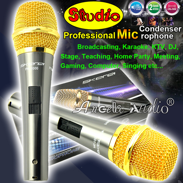 PK-1000 Cardioid Broadcasting Microphone Professional Wired Dynamic Mic Computer Recording Studio Condenser Microphone Microfone