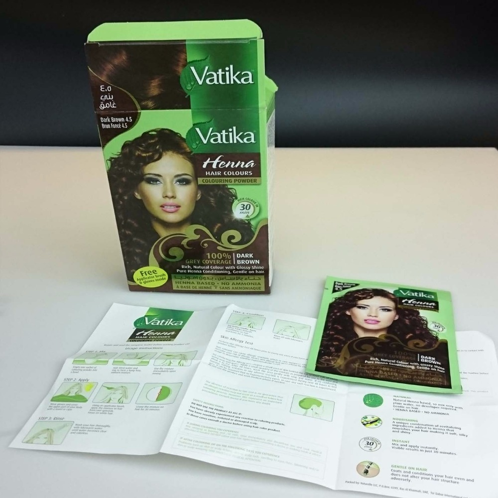 Vatika High Quality Pure Natural Henna Hair Dye Henna Eyebrow Tint