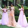 Vintage Champagne Dresses Bridesmaid 2016 Purple Lilac Les Robes Demoiselles D Honneur Wedding Party  Applique Bridesmaid Gown