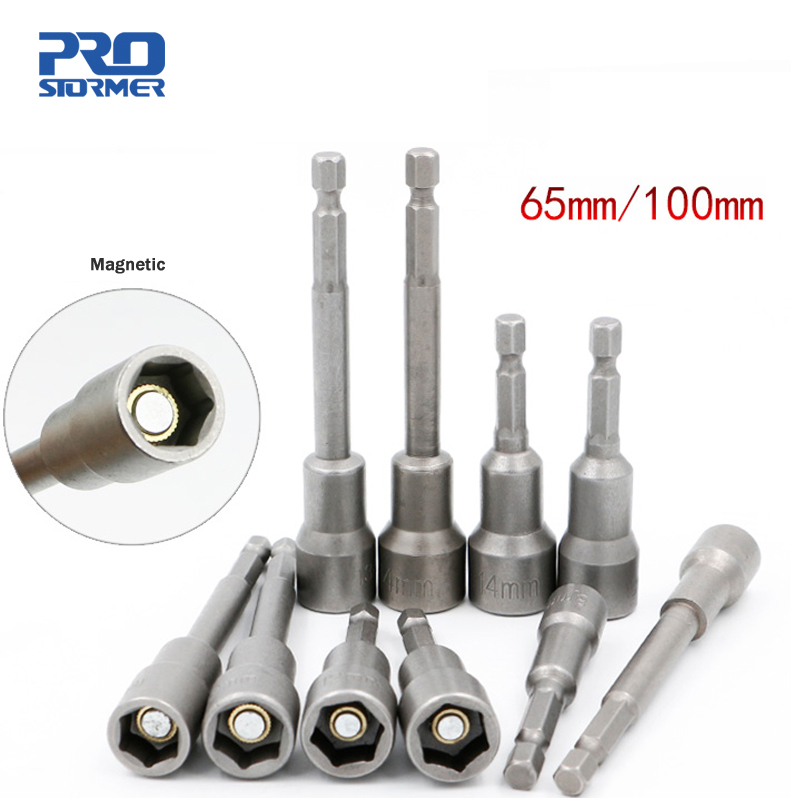 PROSTORMER 1/4 Magnetic Hex Wrench Socket Adapter 65MM/100MM High Torx Electric Drill Sockets drill Bit Power tool accessoriesPROSTORMER 1/4 Magnetic Hex Wrench Socket Adapter 65MM/100MM High Torx Electric Drill Sockets drill Bit Power tool accessories