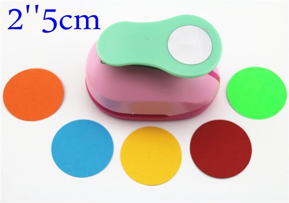 Large 2'' 5cm Circle Furador Paper Puncher Scrapbooking Punches Craft Perfurador Diy Puncher Paper Circle Cutter3178B