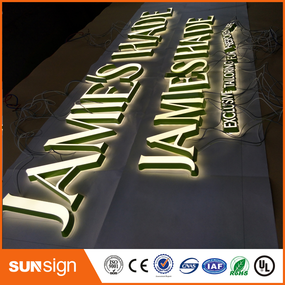 3D Lighting / Acrylic Mini LED Channel Letter Sign / Acrylic Face Lighting Letters