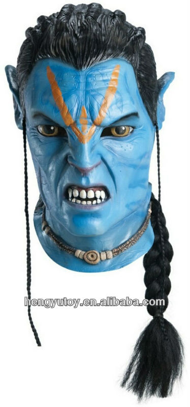 Halloween Masquerade Horror Devil <font><b>avatar</b></font> <font><b>Mask</b></font> Party Cosplay Costume New image
