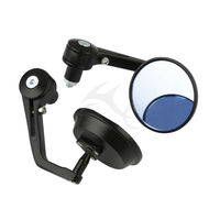Motorcycle Motorbike Rearview Bar End Mirrors 7 8 Aluminum Round Universal